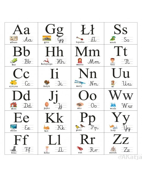 Alfabet ścienny