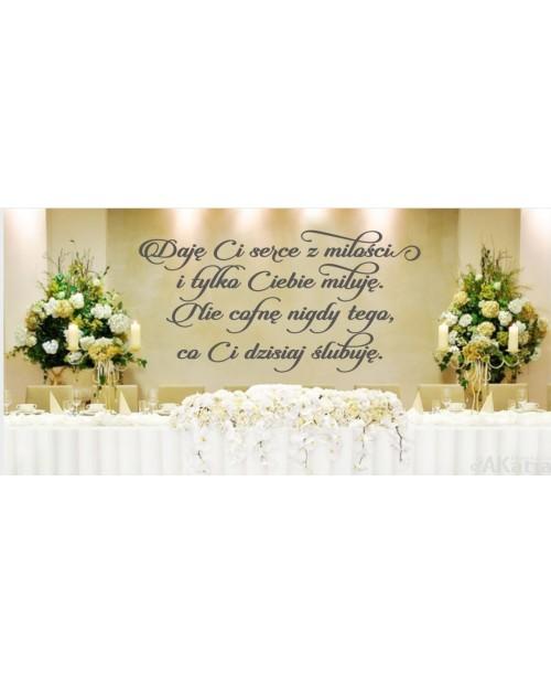 Naklejka ślubna