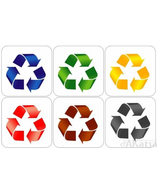 Naklejki na kosz do segregacji śmieci