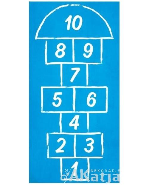 Podłogowa gra w klasy niebieska