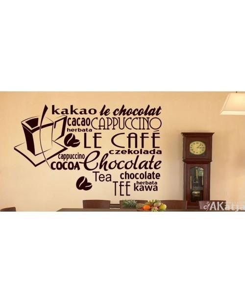 Naklejka  do kuchni le cafe