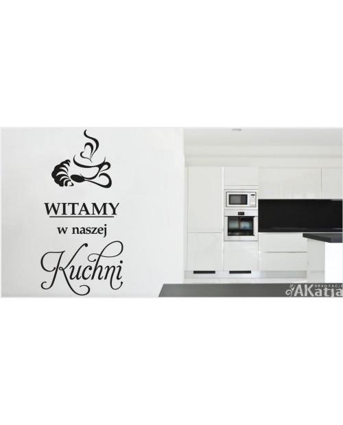 Naklejka do kuchni z napisem Witamy w naszej kuchni