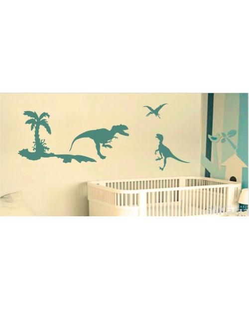 Naklejka dinozaury i palma