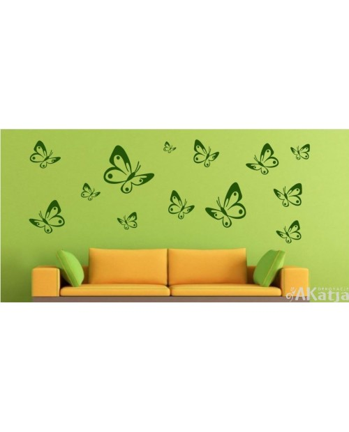 Naklejka Zestaw Motyle