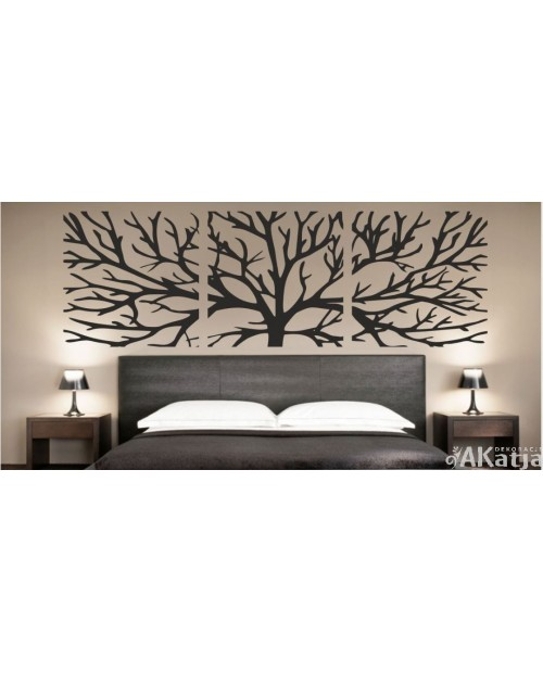 Naklejka Drzewo Tryptyk