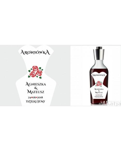Etykiety ślubne na alkohol