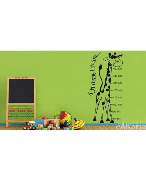 Naklejka Miarka wzrostu-żyrafa