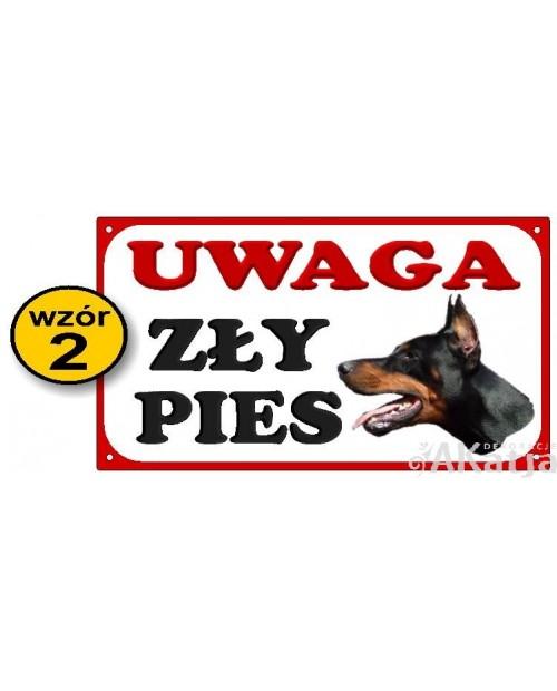 Tabliczka Uwaga Zły Pies