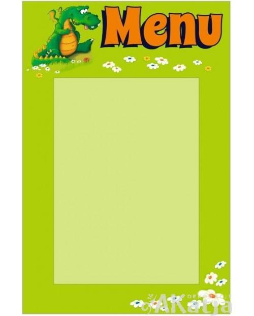 Tabliczka Menu Przedszkola ze Smokiem