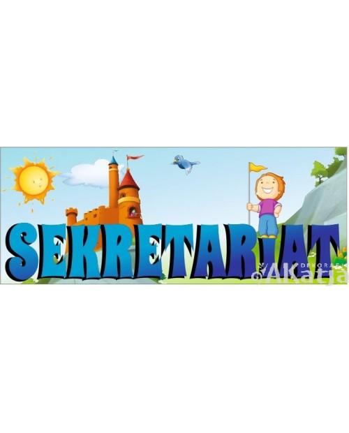 Tabliczka bajkowa - Sekretariat z zamkiem