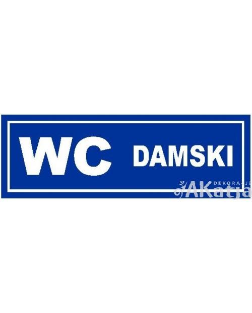 Tabliczka WC Damski