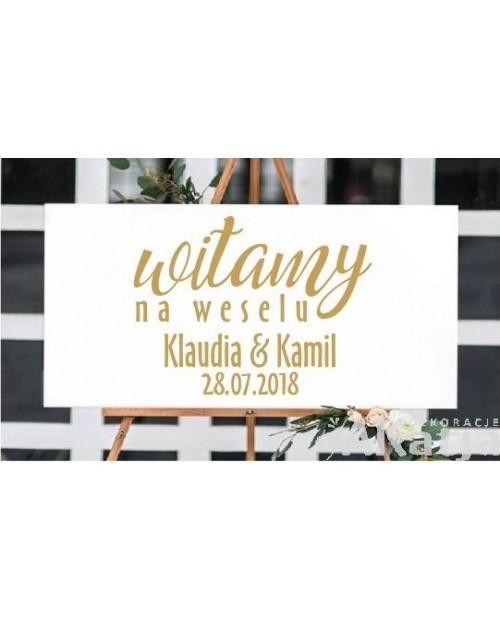 Naklejka ślubna witamy na weselu