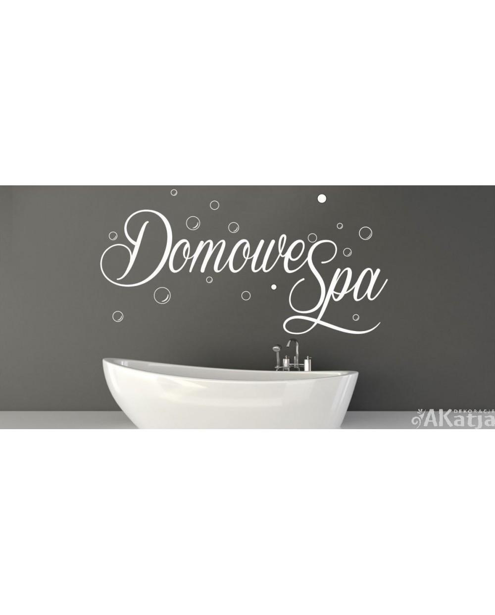 Naklejka Do łazienki Domowe Spa Akatja