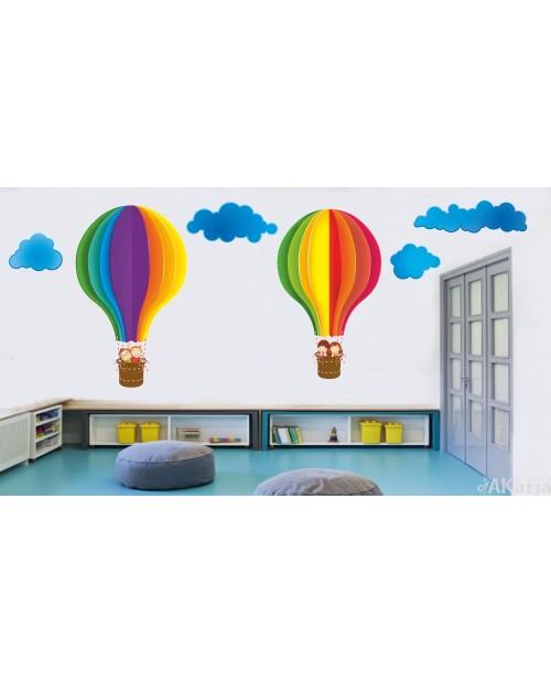Bajkowe balony z chmurkami