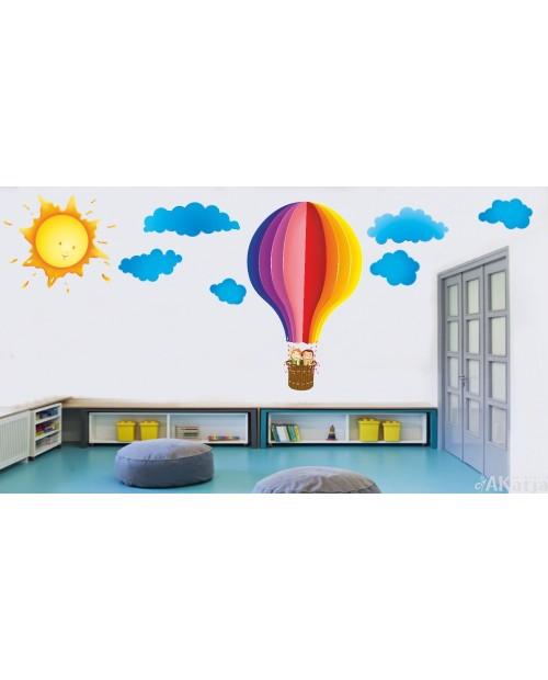 Bajkowy balon ze słońcem
