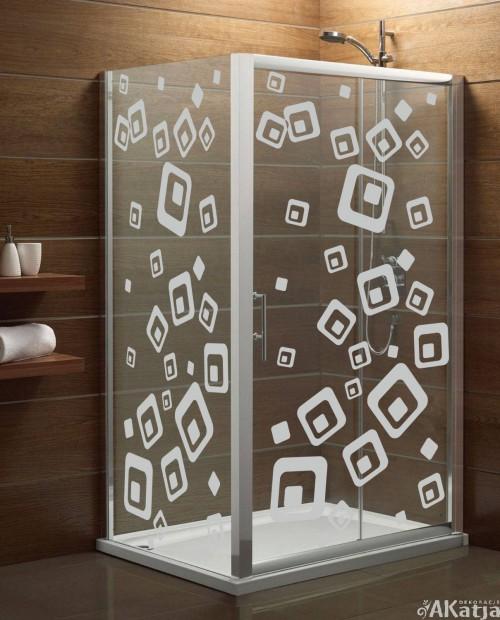 Naklejka mrożone szkło: Kwadraty