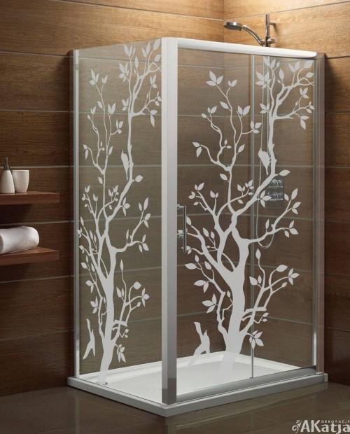 Naklejka mrożone szkło: Drzewo