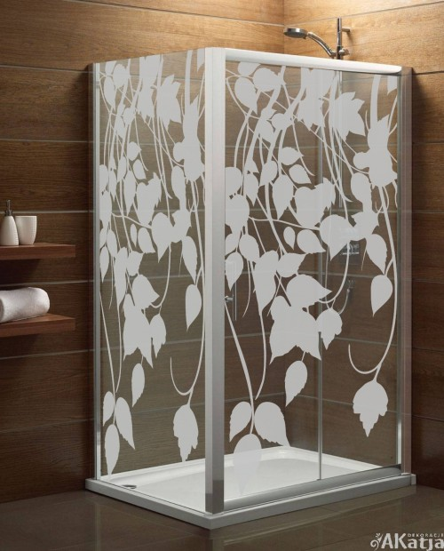 Naklejka mrożone szkło: Liście