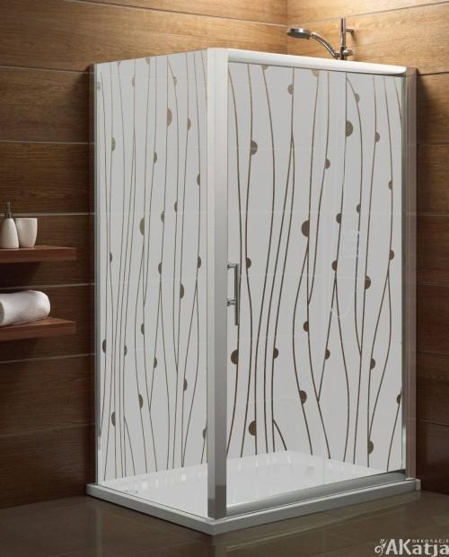 Naklejka mrożone szkło: paski