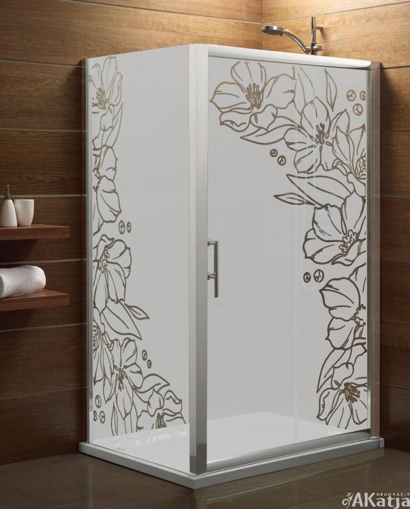 Naklejka mrożone szkło: magnolie