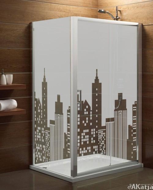 Maskująca naklejka mrożone szkło: Miasto
