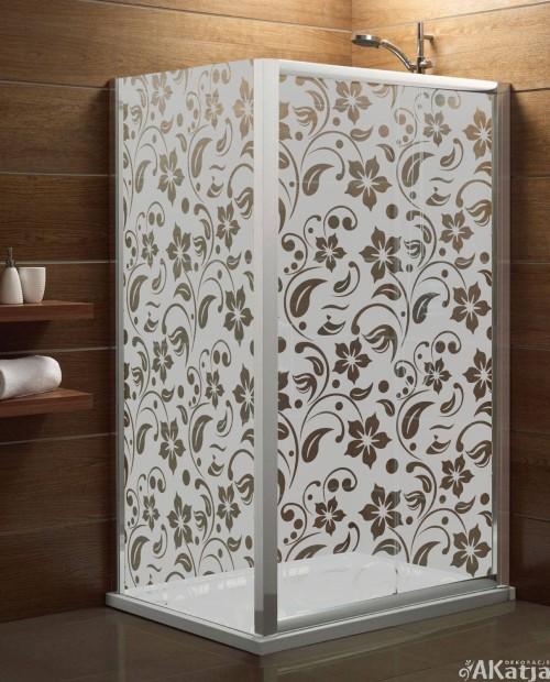 Maskująca naklejka mrożone szkło: Kwiaty