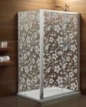 Naklejka mrożone szkło: Kwiaty
