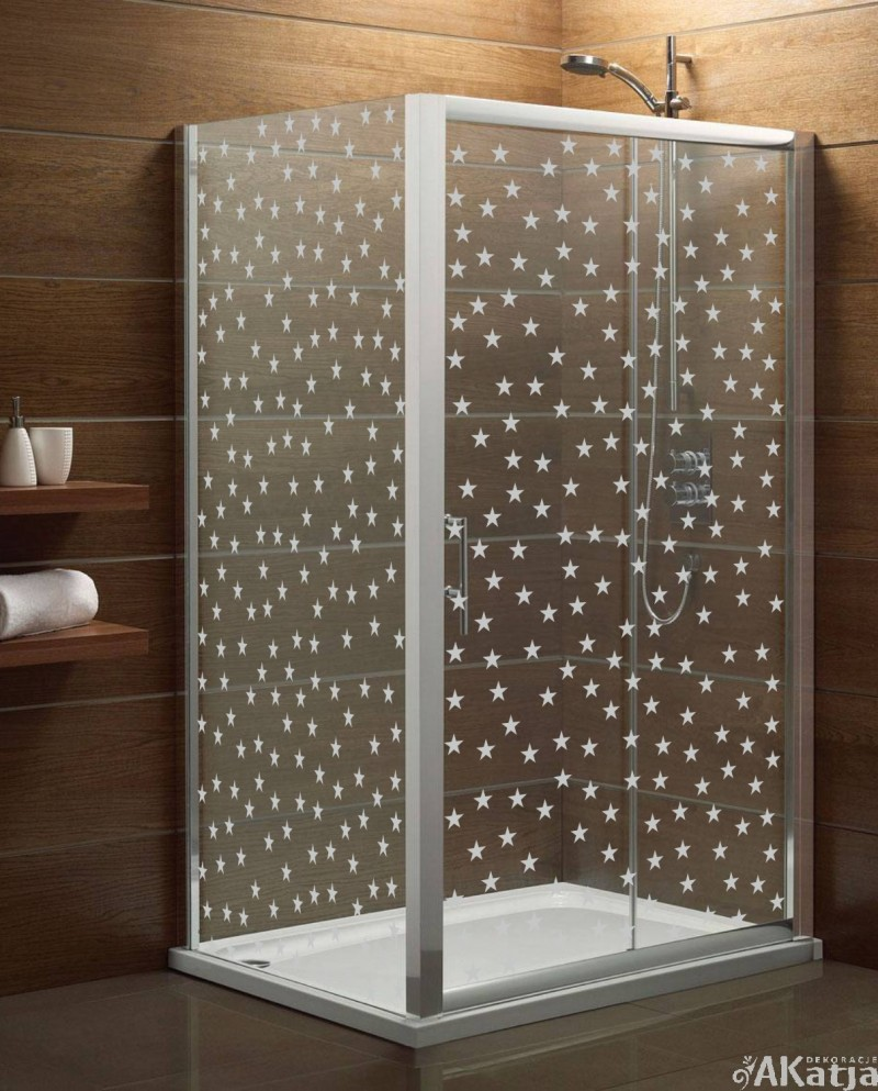 Naklejka mrożone szkło: gwiazdki