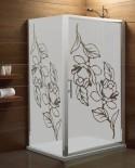 Maskująca naklejka mrożone szkło: Róże
