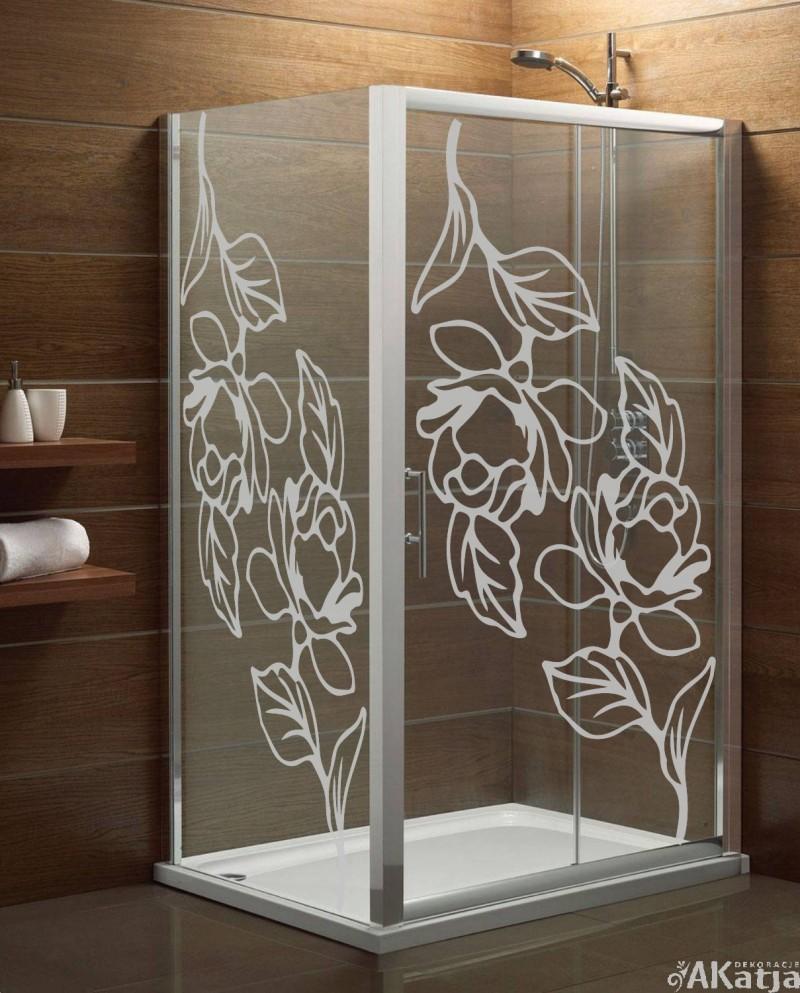 Naklejka mrożone szkło: róże
