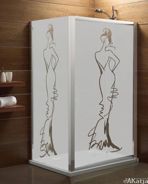 Naklejka mrożone szkło: kobieta