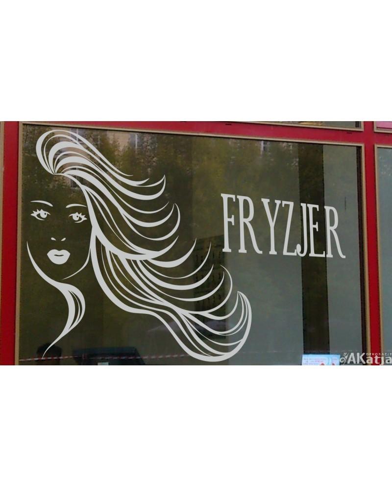 Naklejka mrożone szkło: fryzjer