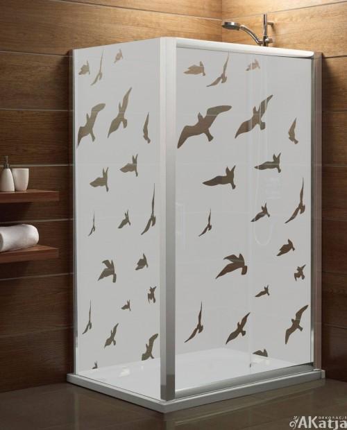 Maskująca naklejka mrożone szkło: Ptaki