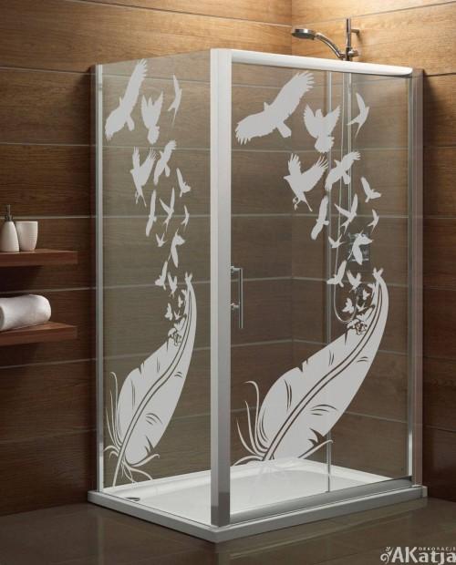 Naklejka mrożone szkło: Pióro