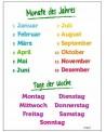 Niemieckie miesiące i dni tygodnia - plansza z zawieszką