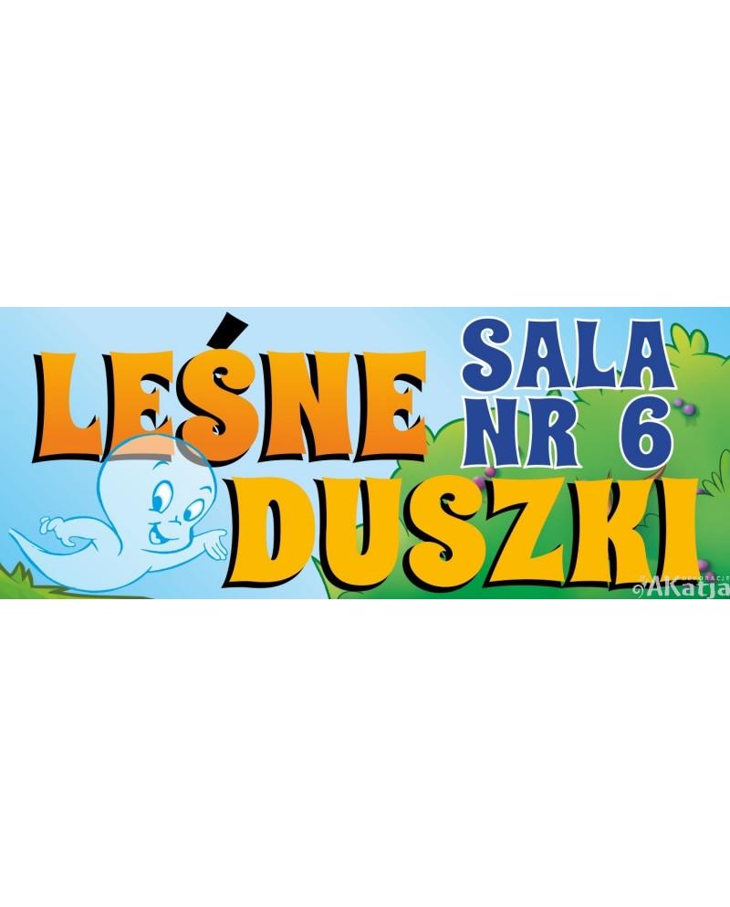 Tabliczka Sala Leśne Duszki