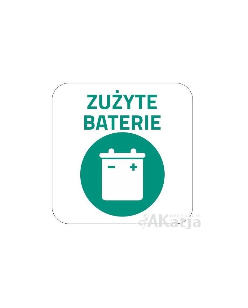 Naklejka na kosz do segregacji śmieci baterie 20x20cm