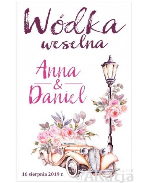 Etykieta na Alkohol Weselny -  Latarnie