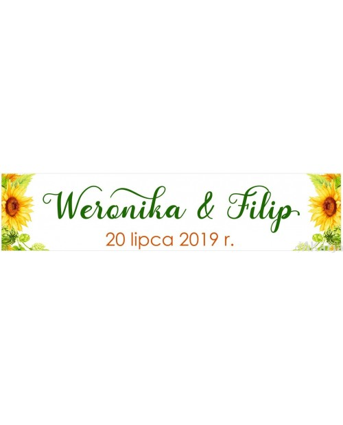 Ślubna Tablica Rejestracyjna - Słoneczniki 2 sztuki