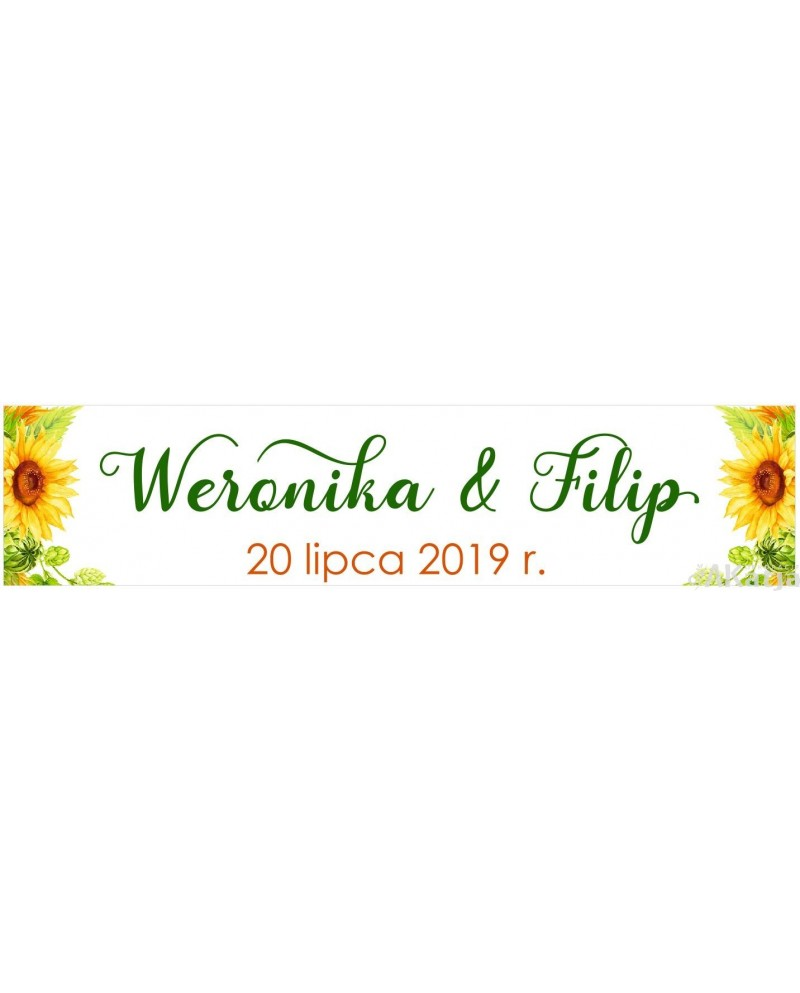 Ślubna Tablica Rejestracyjna - Słoneczniki