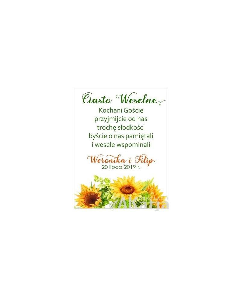 Etykiety z Podziękowaniem -  Słoneczniki