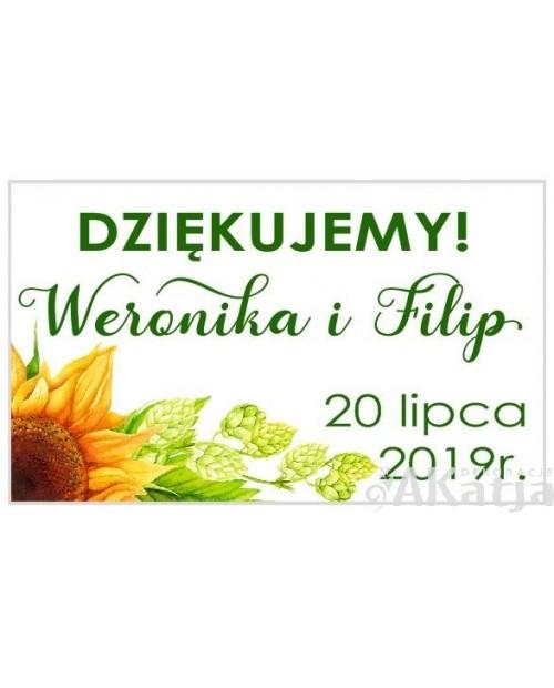 Mini Etykiety z Podziękowaniem - Słoneczniki