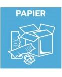 Naklejka na kosz do segregacji śmieci papier 20x20cm