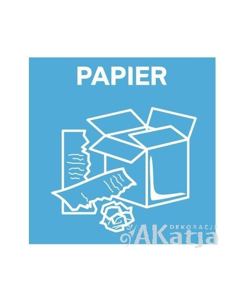 Naklejka na kosz do segregacji śmieci papier 32x32cm