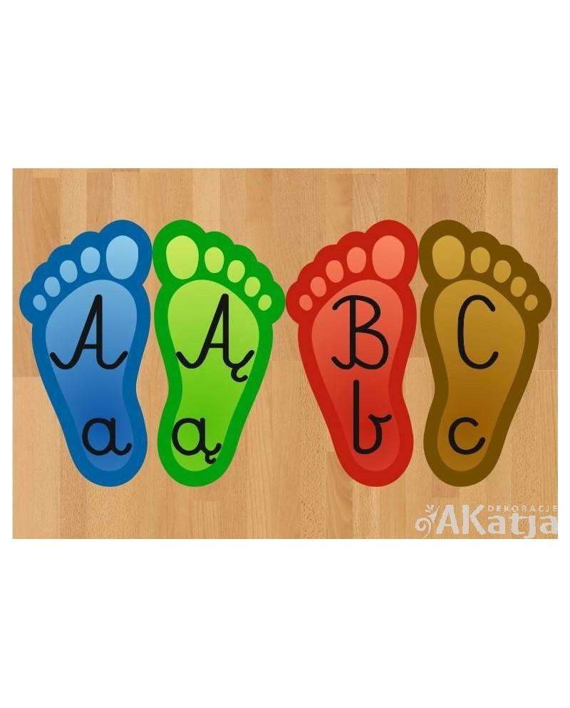 Stopki do skakania z alfabetem