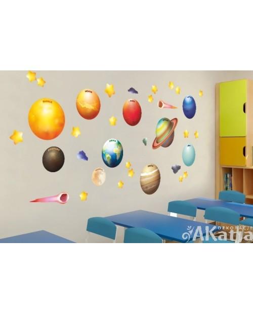 Bajkowe Planety na ścianę