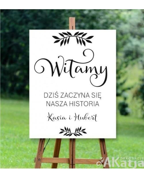 Naklejka ślubna Nasza historia