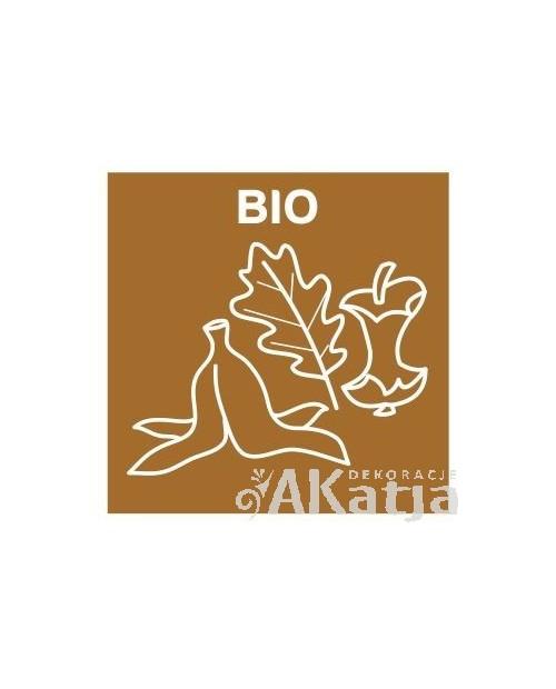 Naklejka na kosz do segregacji śmieci bio 16x16cm