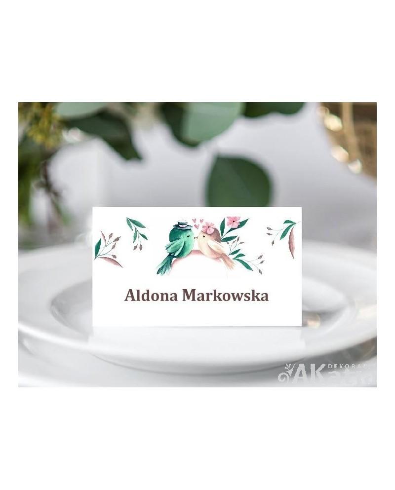 Winietki Ślubne - Zakochane Ptaszki