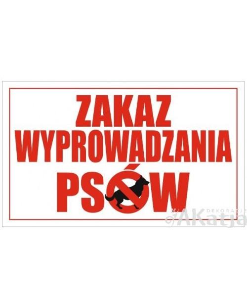 Tabliczka Zakaz Wyprowadzania Psów